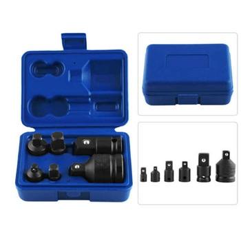6Pcs/Set Socket Wrench Hand Tool Set Impact Adaptor Reducer Adapter 1/4 1/2 3/8 3/4 Ratchet Breaker Driver