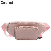 Pouch Belt-Bag Fanny-Pack Messenger-Bag Fashion Women Bum Pu Hip-Purse Adjustable Lady
