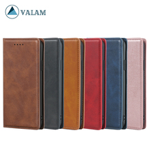 VALAM For iPhone 6 7 8 plus xs max xr Case Leather Silk Magnetic Flip PU Wallet Cover Xs Max 6s Stand