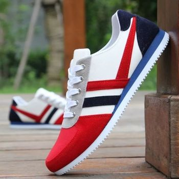 Stylish Brand Fashion Men's Lace Up Sports Loafers Casual Sneakers Flat Canvas Shoes Dropshipping Casual Schoenen fashion lace up plaid canvas casual sneakers page 4