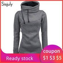 Sisjuly women hoodie sweatshirt solid hooded long sleeve pul