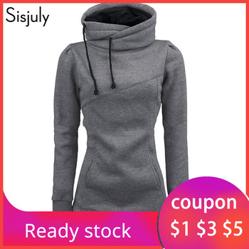 цена Sisjuly women hoodie sweatshirt solid hooded long sleeve pullover hoodies drawstring plus size 4XL fashion female spring hoodie онлайн в 2017 году