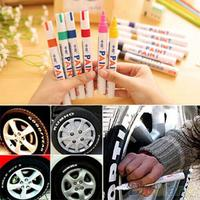 12 cores à prova dwaterproof água caneta de pintura de carro graffiti lápis caneta oleosa pneu de carro piso de borracha metal tinta permanente caneta marcador      -