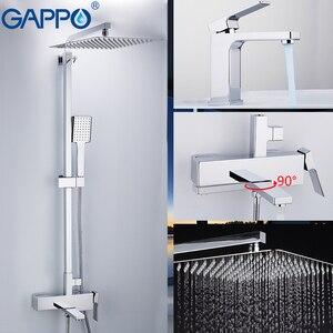 Image 4 - GAPPO mitigeur de lavabo, robinets de lavabo, mitigeur de lavabo, robinets de baignoire, mélangeur de baignoire, ensemble de douche de salle de bains