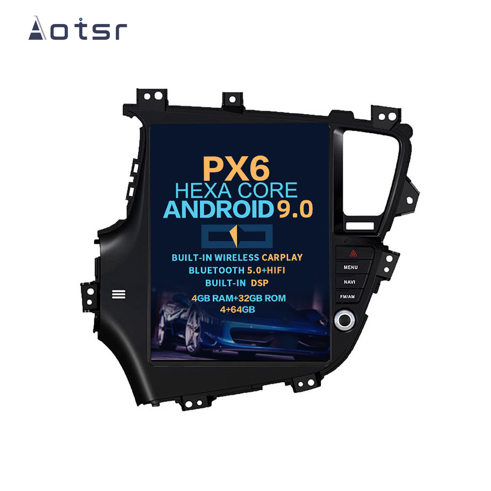 "Aotsr Tesla 12.9"" Vertical screen Android 9 Car DVD Multimedia player GPS Navigation For KIA K5 2010 - 2015 DSP Carplay Radio image"