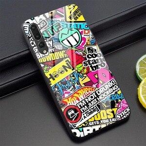 Чехол для телефона с граффити для Huawei P30 Lite P10 P20 Pro P Smart Mate 20 Honor 7A Pro 9 10 Lite Y6 Y9 закаленное стекло