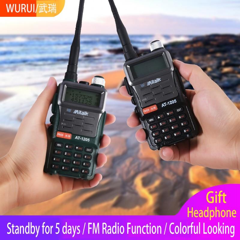 1pz Dual Band VOX Walkie Talkie 50km Portable Powerful Two Way FM Radio 256 Channels Outdoor Flashlight CB Walkie-Talkie Scanner