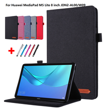 Fabric Case For Huawei Mediapad M5 lite 8 8.0 inch JDN2-W09 JDN2-AL00 Tablet Flip cover for Huawei Mediapad m5 lite 8 case +Gift(China)