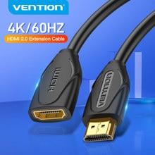 Vention HDMI uzatma kablosu erkek kadın HDMI kablosu 4K 60Hz HDMI 2.0 HDTV için nintendo anahtarı PS4/3 projektör HDMI genişletici