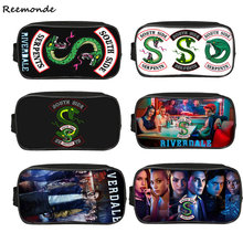 Kids Riverdale School Bags Riverdale Pencil Case Southside Canvas Zipper Bag Girls South Side Serpents Riverdale Storage Bag(China)