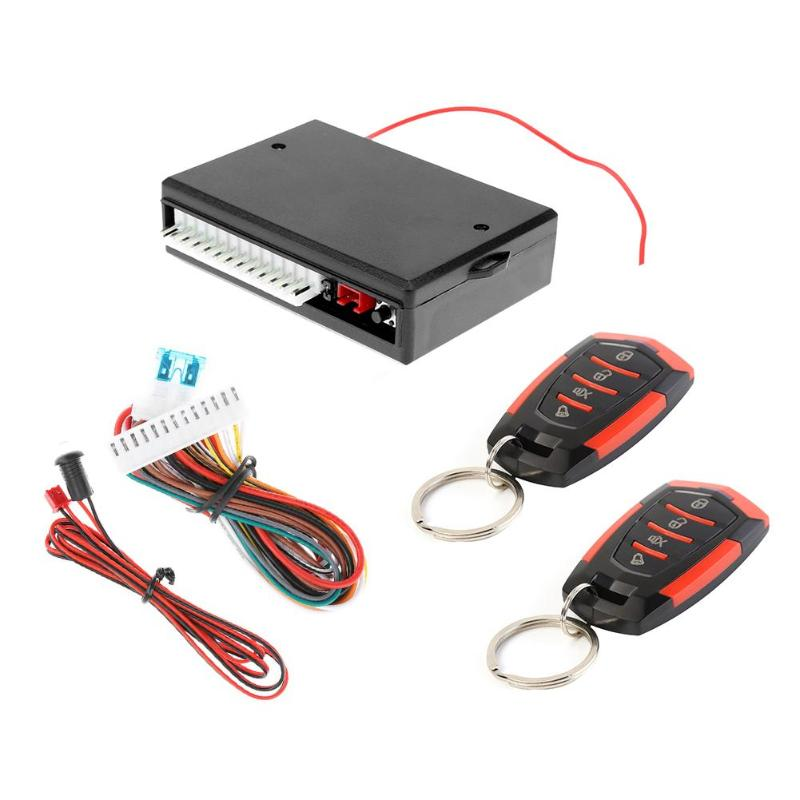 Car Remote Central Door Locking Kit Automobiles Universal Keyless Entry Alarm System Controller Waterproof Accessories