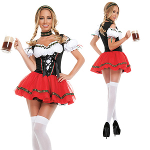 Carnival Lady The Munich Oktoberfest Costume Germany Bavarian Beer Maid Waiter Cosplay Parade Tavern Fancy Party
