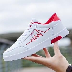 Image 4 - Haute qualité marque hommes chaussures décontractées offre spéciale printemps automne chaussures décontractées hommes respirant mode rouge noir chaussures hommes décontractées blanc