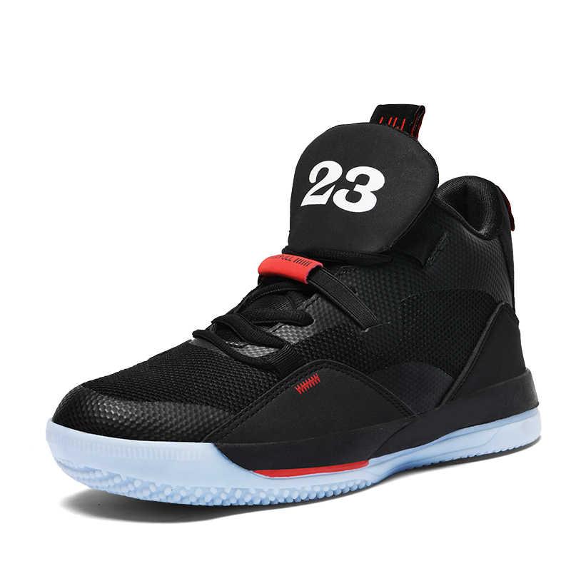 Женские и мужские баскетбольные кроссовки с высоким берцем; дышащие кроссовки унисекс с сетчатым верхом на нескользящей подошве; спортивные ботинки; Баскетбольная обувь; chaussure homme Femme