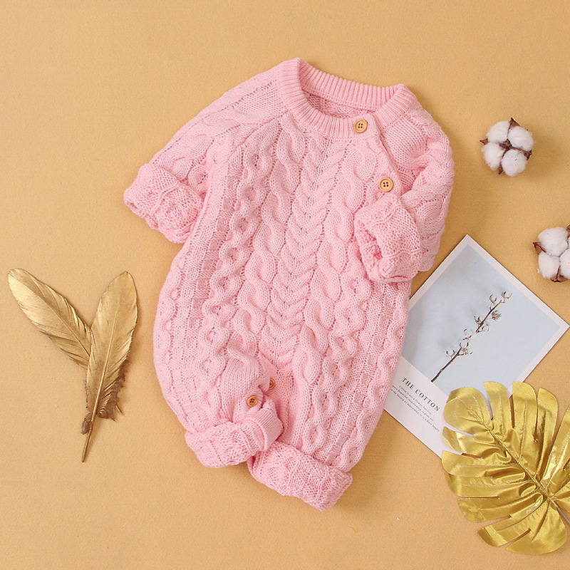 Infant Clothing Autumn Winter Baby Romper Children Knitted Jumpsuit Newborn Baby Boys Girls Clothes For Baby Overalls 0-3 Years | Happy Baby Mama