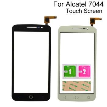 Mobile Touch Screen For Alcatel One Touch Pop 2 OT7044 7044 7044Y 7044A 7044X 7044K Digitizer Panel Sensor TouchScreen 3M Glue mobile touch screen for alcatel one touch pop c7 7041 ot 7041d 7041x 7040e 7041d front touch screen digitizer panel sensor