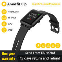 Huami Amazfit بيب ساعة bluetooth ذكية GPS الرياضة مراقب معدل ضربات القلب IP68 للماء مكالمة تذكير MiFit APP إنذار الاهتزاز