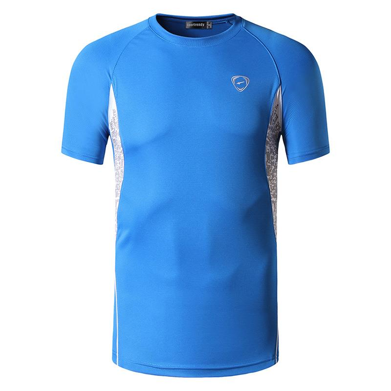 Jeansian Men 39 s T Shirt Tshirt Tee Shirt Sport Short Sleeve Dry Fit Running Fitness Workout LSL011 Blue in T Shirts from Men 39 s Clothing