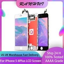 AAAA + + + Display A CRISTALLI LIQUIDI per il iPhone 6 6S 7 7 Plus 8 8Plus Con 3D Touch Screen di Ricambio per il iPhone 4 4S 5 5S 5C 6P 6SP No Dead Pixel