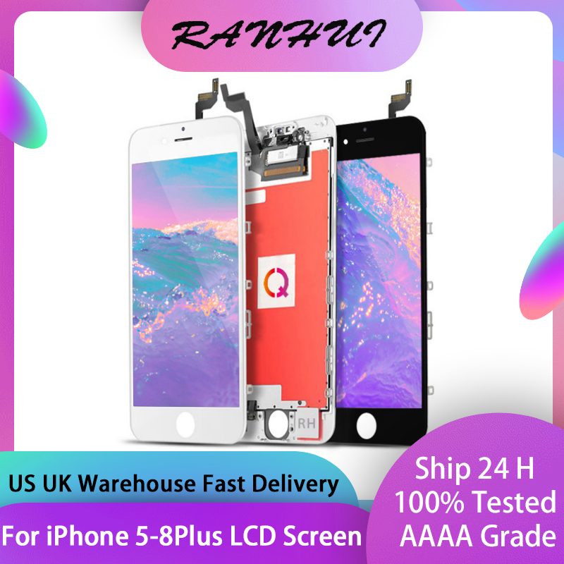 AAAA+++ LCD Display for iPhone 6 6S 7 7 Plus 8 8Plus With 3D Touch Screen Replacement For iPhone 4S 5 5S 5C 6P 6SP No Dead Pixel(China)