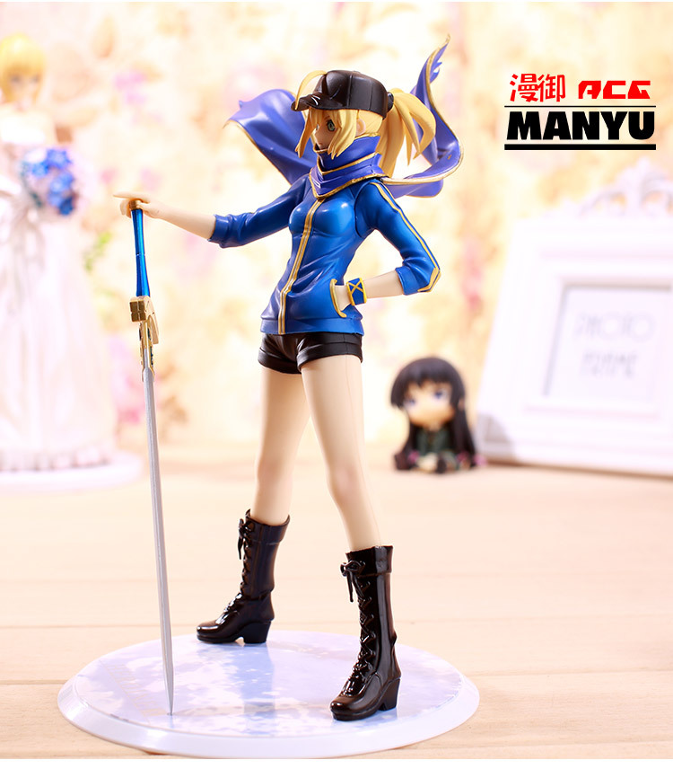 Anime Fate Zero Figure 23CM Fate Stay Night Saber Baseball jackets Action Figure Sexy Girl Lily Figure Toy B19 5