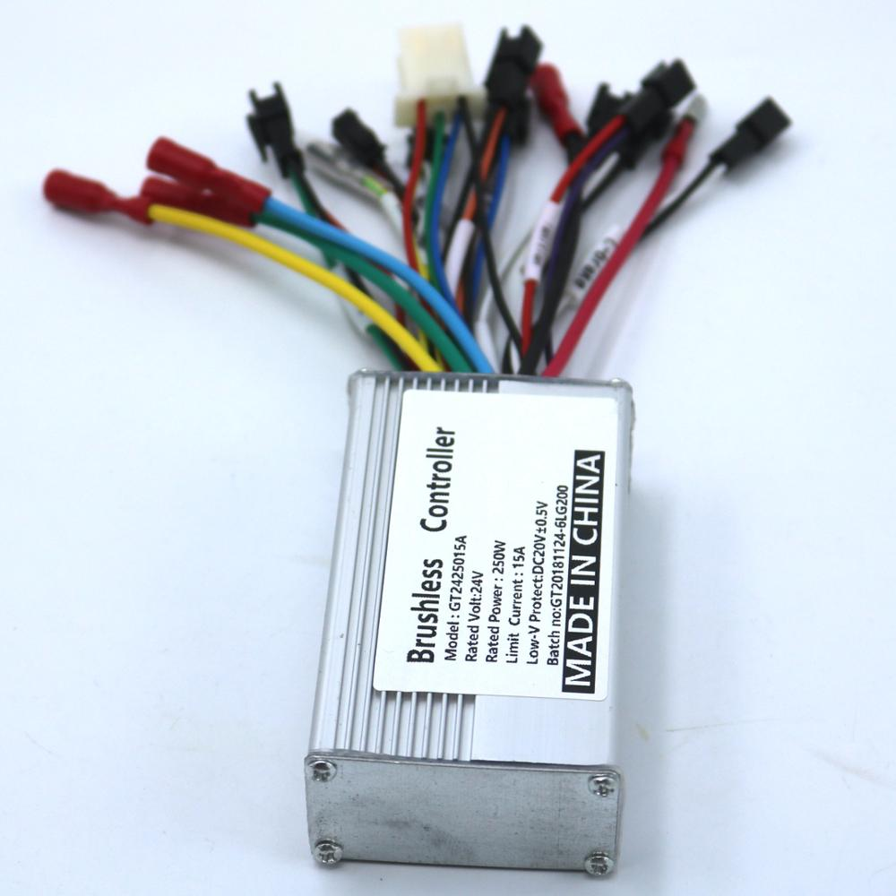 GREENTIME 24V 250W Brushless DC Motor Controller E-bike Controller Dual Mode Sensor/sensorless Bldc Motor Driver