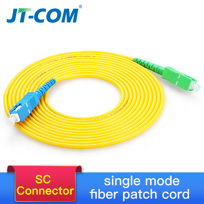 10 Pcs SC/APC-SC/UPC Simplex 2.0mm 3.0mm PVC Fiber Optic Jumper Cable Single Mode Extension Patch Cord 1m,  3m, 5m, 10m,20m,30m