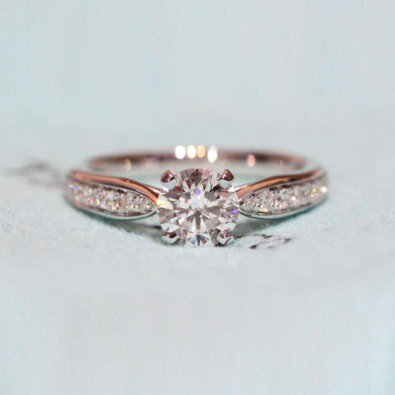 Бриллиантовое кольцо из твердого белого золота 14 к ювелирные украшения 0.4ct VS1 натуральные Алмазы обручальные свадебные кольца для женщин