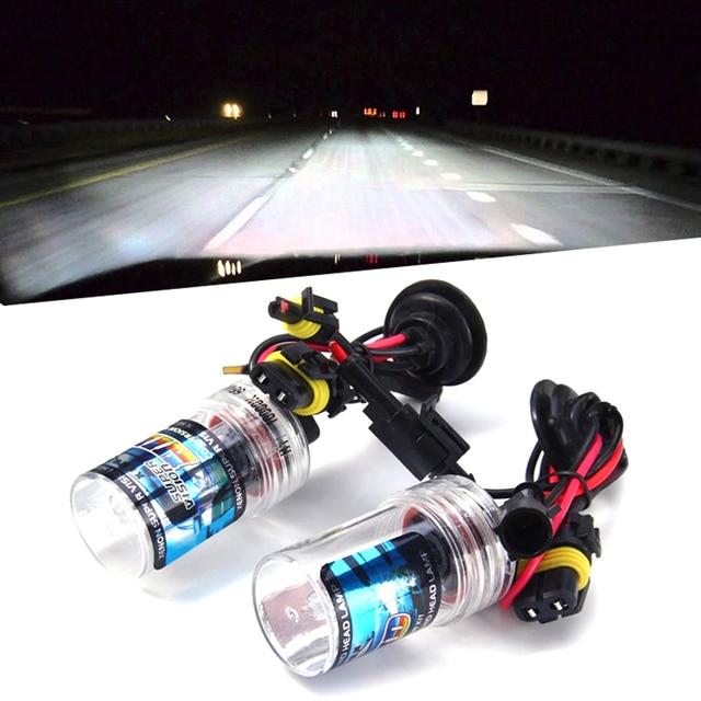 Ampoule au xénon HID, h7 h11 h1 h3 h8 h9 hb3 hb4 9005 9006, pour phare de voiture, phare anti brouillard automatique, violet, rose, vert, 35W 6000K, 8000K, 12V