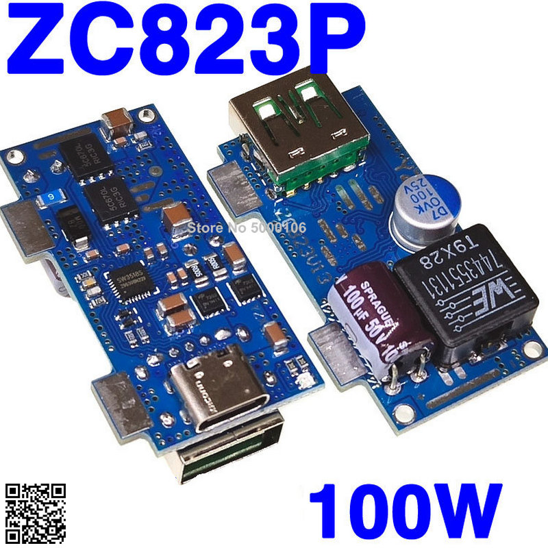 DIY Car Charged with Desktop Mobile Power Supply SW3518S Dual-port VOOC Plus PD3.0 Flash Charged QC4