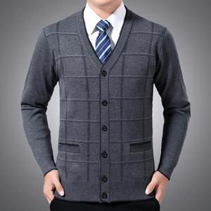 Рождественский кардиган, свитера для мужчин, одежда для мужчин среднего и пожилого возраста, свитер, sueter hombre erkek kazak homme B288