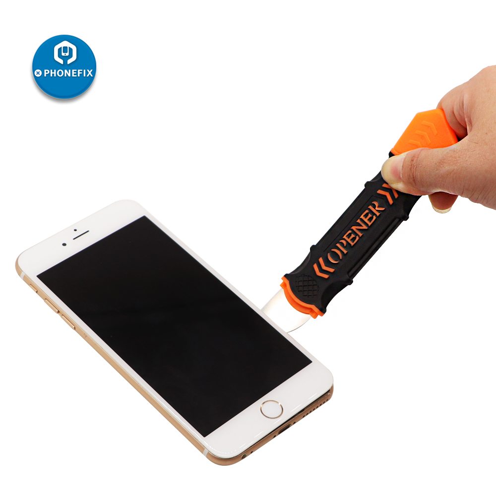 PHONEFIX JM-OP12 Prying Spudger Mobile LCD Screen Opener Double Head Crowbar DIY Phone Disassembly Tool For IPhone IPad