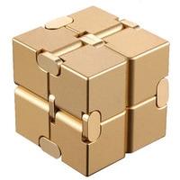 Магический бесконечный кубик для снятия стресса, кубик бесконечности, алюминиевый кубик, игрушки премиум-класса, металлическая деформация,...