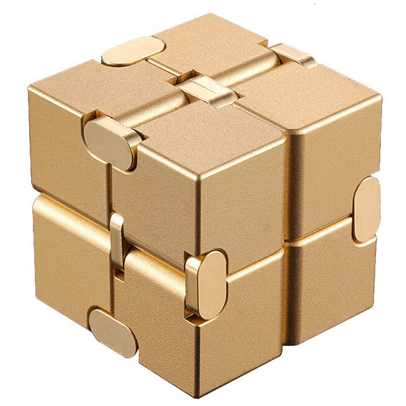 Magical Infinite Stress Relief Cube Infinity Cube Aluminium Cube Toys Premium Metal Deformation Stress Reliever For EDC Anxiety