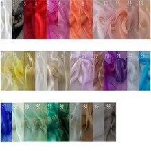 Шелк шифон ткань женское платье ткань шелк окрашенная ткань 140 см ширина тонкая летняя ткань