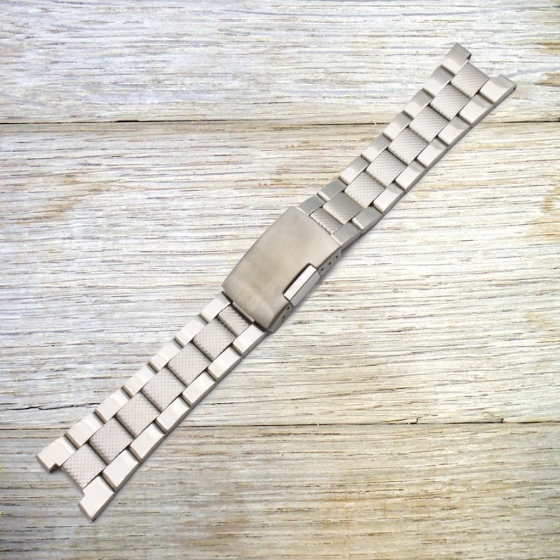 Watch Accessories Stainless Steel Watch Band Notch 12 Mm Steel Belt Steel Chain Metal Watch Strap Men's Notch Watch Bracelet Pin