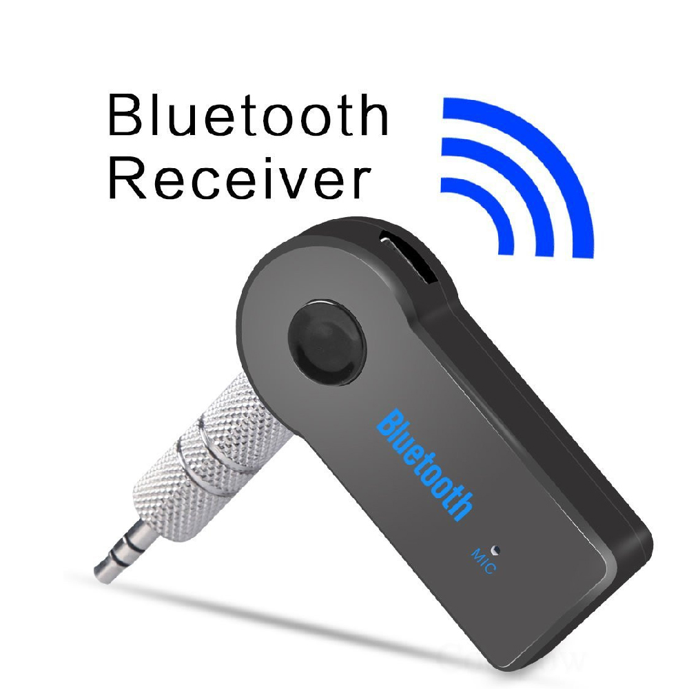 3.5mm Audio Wireless Handsfree Black Car Bluetooth Adapter AUX Audio Receiver Converter Headphone Adapter Car Kit R107BL