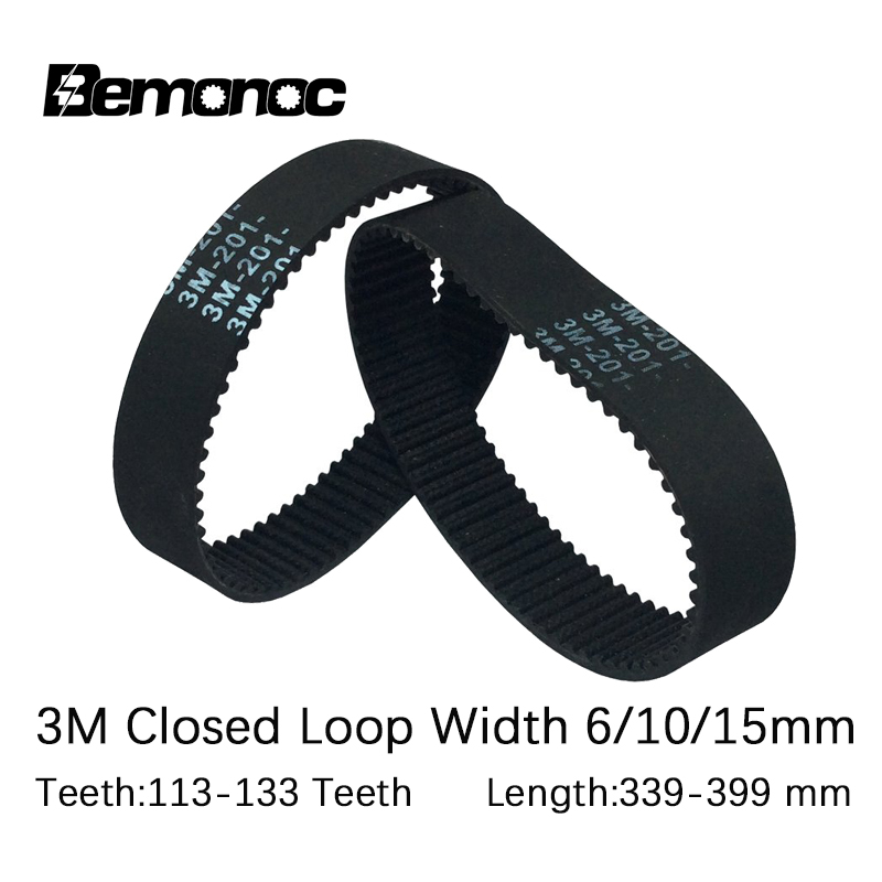 113 dientes timing Belt 15 mm de ancho Correa dentada HTD 339-3m