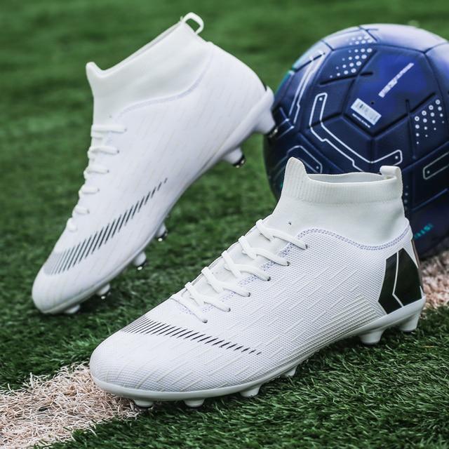 Outdoor Football Boots Men Sneakers Soccer Boots Turf Football Boots Kids Soccer Cleats AG/FG Spikes Training Sport Futsal Shoes 5