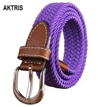 AKTRIS Ladies Design Quality Knitted Canvas Belts Women Female Fashion Accessories Jeans Many Colours Choice CBFC111