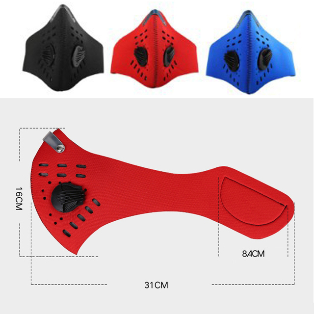 Mouth Masks With 5-Layer Air Filter Anti Pollution Dust PM2.5 Mask Bike Cycling Mouth-muffle Bacteria Proof Flu Face Masks 1