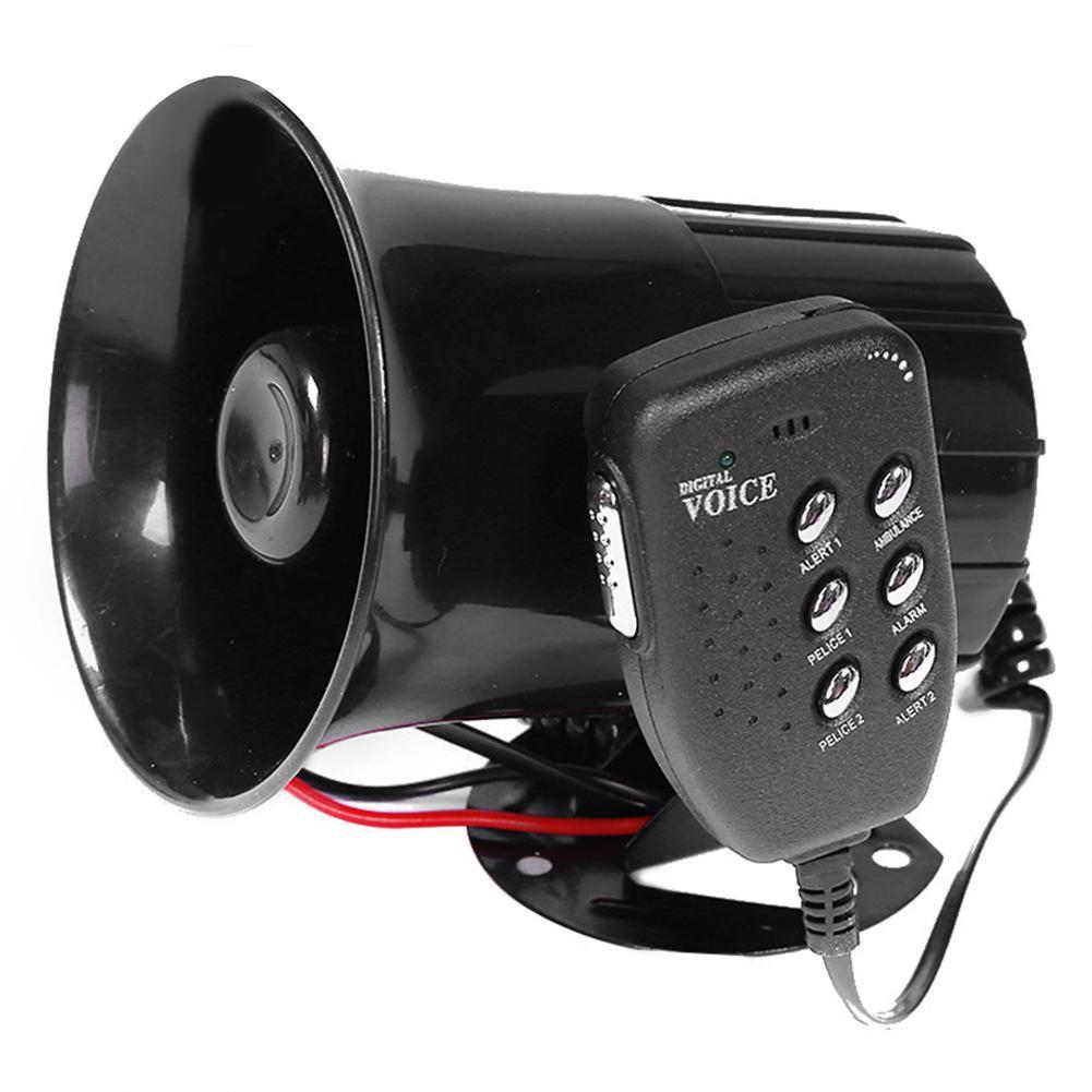 Мотоцикл автомобиль мегафон 6-тоновая полицейская сирена звук высокие колонки сигнализация Фургон Грузовик Лодка 100 Вт 12 В модификация част...