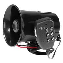 Carro da motocicleta megaphone 6-tones sirene da polícia som alto alto-falantes alarme van caminhão barco 100w 12v peças de modificação chifre alto-falantes