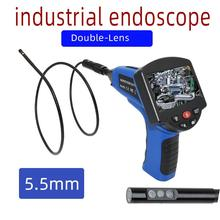 0.5mm Dual lenswaterproof Pipe Wall Sewer Inspection Camera System, Industrial Pipe Car Video Inspection Endoscope Camera 40m cable pipeline sewer inspection camera with keyboard dvr function endoscope cmos lens waterproof night version cctv system