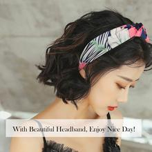 Hair Accessories 10 Pcs Wide Headbands  Chiffon Hoop Knotted for Women Cloth Ties Fashion Floral