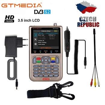 GTMEDIA V8 Finder Meter SatFinder Digital Satellite Finder DVB S/S2/S2X HD 1080P Receptor TV Signal Receiver Location Finder