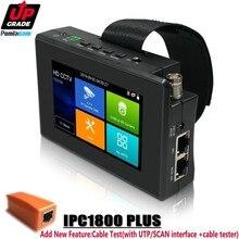 Aggiornamento IPC 1800 PIÙ CCTV Macchina Fotografica del IP Tester 5 in 1 H.265 4K IP 8MP TVI 8MP CVI 8MP AHD Analogico Da Polso Monitor del Tester del CCTV con WIF