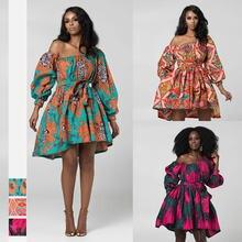 Новый дизайн африканские вечерние платья с открытыми плечами