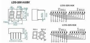Image 4 - 8pcs 7 מגזר LED תצוגה 0.36 אינץ 1 / 2 / 3/ 4 קצת 2pcs כל נפוץ קתודה/האנודה צינור דיגיטלי 7 מגזר LED תצוגה