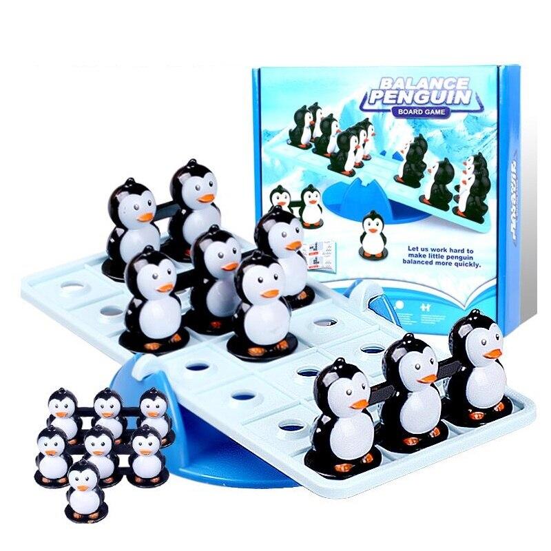 Equilíbrio pinguim inteligência jogo de quebra-cabeça montessori matemática educação festa mesa jogo crianças adulto lógica formação brinquedos